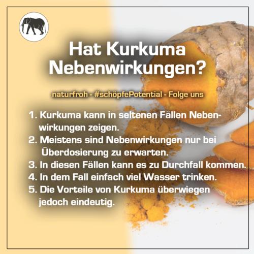 Curcumin Nebenwirkungen