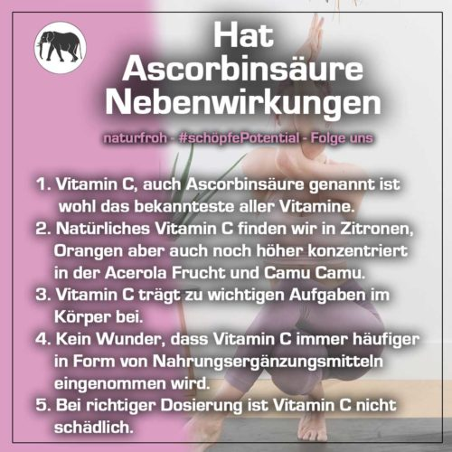 Ascorbinsäure Nebenwirkungen