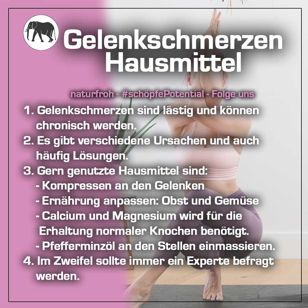 Gelenkschmerzen-Hausmittel - naturfroh.com
