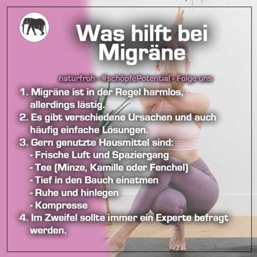 was hilft bei Migräne